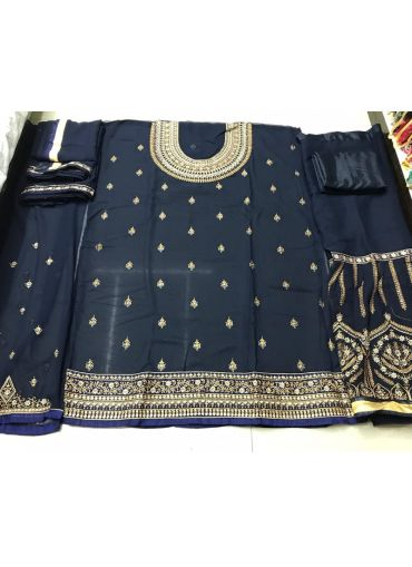 Attractive Black Sharara Suit With Multi Work