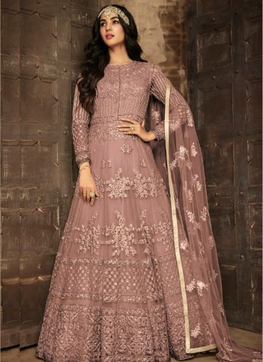 Innovative Embroidered Heavy Net Anarkali Suit